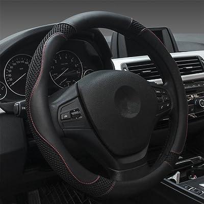 Dee-Type Black Car Steering Wheel Cover Universal 15 Inch: Automotive