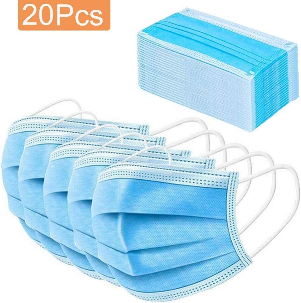 Elise 20/50 / 100pcs desechable de Tres Capas de protección Facial quirúrgico higiene Dental Polvo Smog de Limpieza (Color : M20pcs)