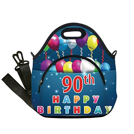 648551514713 Amazon.com: Insulated Lunch Bag, Neoprene Lunch Tote Bags, 90th ...