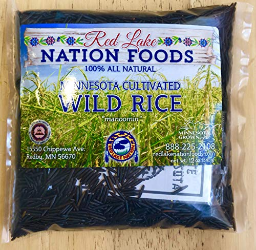 (GLUTEN FREE) Red Lake Nation 100% All Natural Minnesota Cultivated Wild Rice, 12 - Rice Wild Minnesota