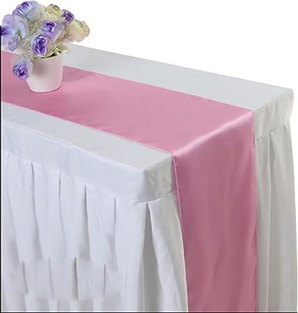 ☆ Material: Satinado; Tamaño: S: 30*275CM.,☆ La corredor mesa es muy buena, resistente al desgaste,