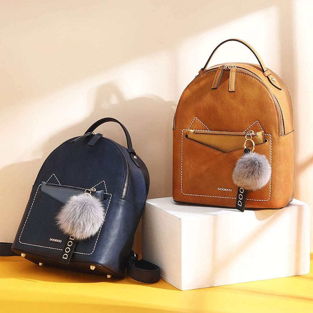 AnSuu Womens Bag Crossbody Bags Shoulder Bag Double Shoulder Bag Bag Female Retro Backpack Color : Brown