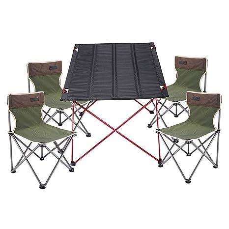 MDBYMX Mesa de Camping Plegable Juego de Mesa y Silla ...