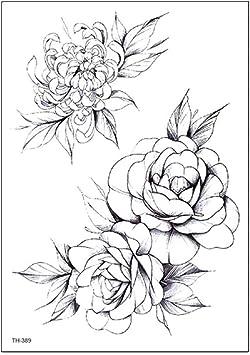 Le Bras De Fleur Noir Et Blanc Esquisse Des Autocollants De
