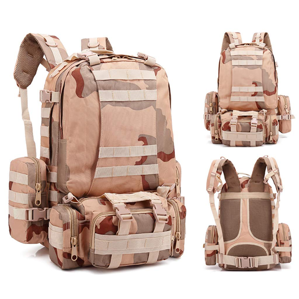 1KTon 55L Outdoor Military Army Patrol Molle Assault Pack Tactical Combat Rucksack Backpack Bag Camping Hiking Trekking Bag by 1KTon