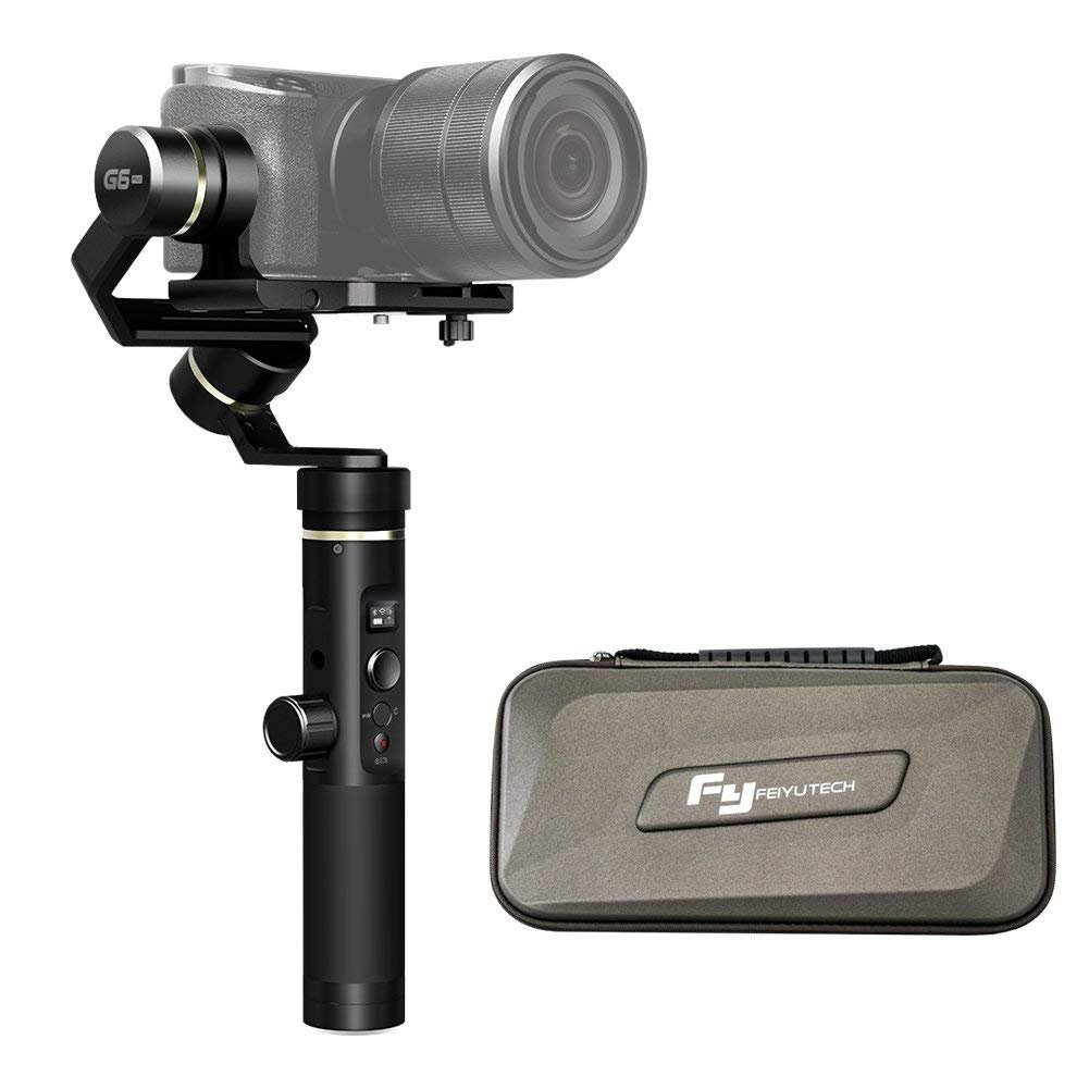 Feiyu Tech 3軸スプラッシュプルーフハンドヘルドジンバル更新されたバージョンのg5 g6 Plus for GoPro Hero 6 / 5 / 4 / 3 /セッション、Sony rx0 Yiカム4 K、AEEアクションカメラの類似サイズ   B07FXWYVHT