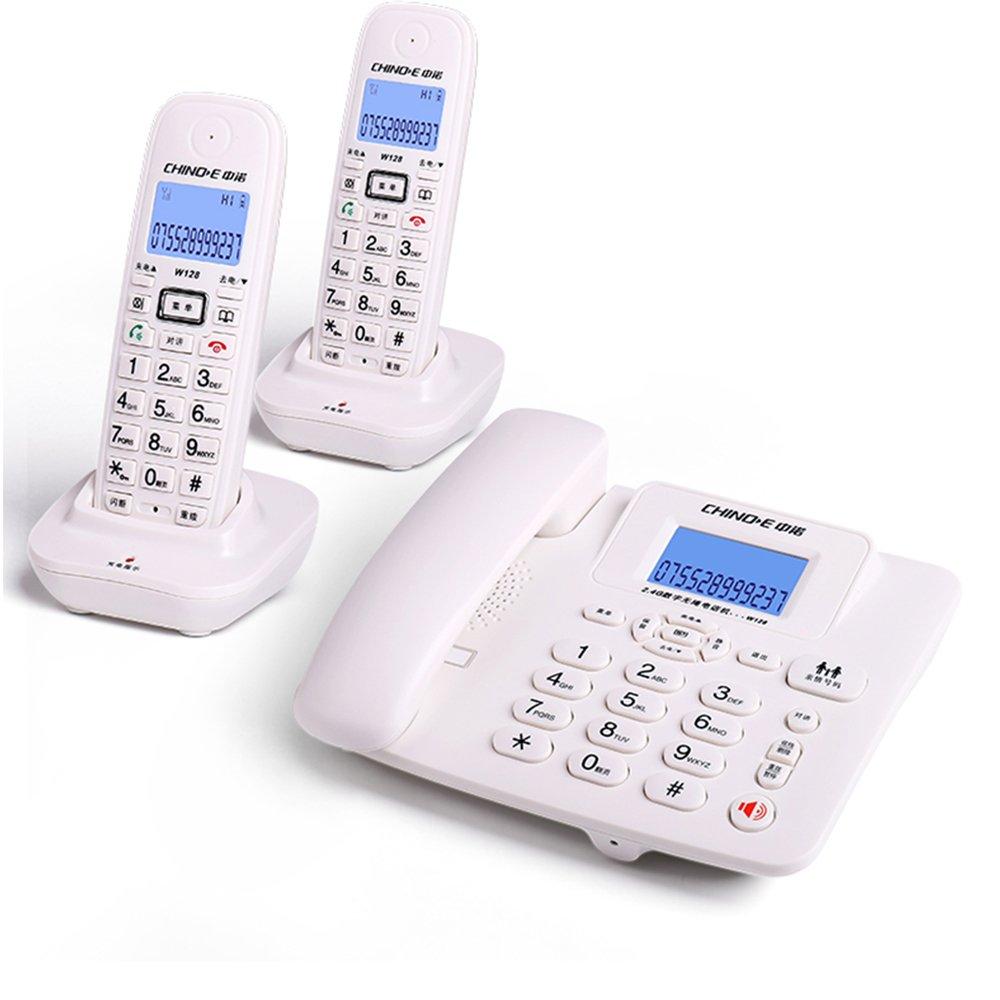デジタルコードレス電話、オフィス家庭2.4Gスマートワイヤレス固定線固定電話、内部無料のインターホンスリーウェイリアルタイムコール、ドラッグ1つのドラッグと2つのドラッグ3つの拡張サブマシン1 (色 : 白, 形状 けいじょう : B) B 白 B07F8N5XPQ
