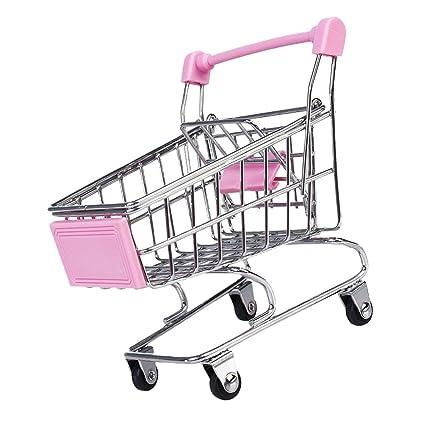 Mini Carro De Compras Carro De Juguete De Color Rosa