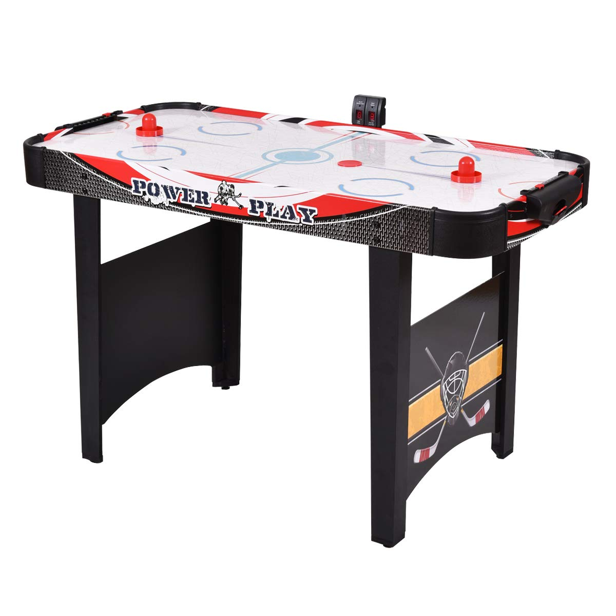 "GYMAX 48"" Air Hockey Table with 2 Pucks 2 Pushers Electronic Scorer"