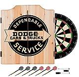 Dodge Service Design Deluxe Solid Wood Cabinet Complete Dart Set