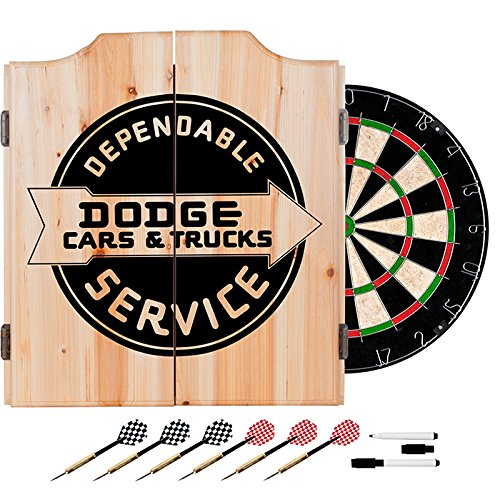 Dodge Service Design Deluxe Solid Wood Cabinet Complete Dart Set by TMG