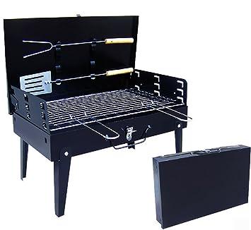 showyour patas de fold-able portátil de acero inoxidable camping vacaciones viaje cookouts barbacoa de