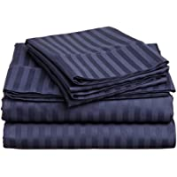 Bed Sheet Set Egyptian Cotton 12 Inch Drop 400 TC by Mahaveer Cotton by Mahaveer Cotton