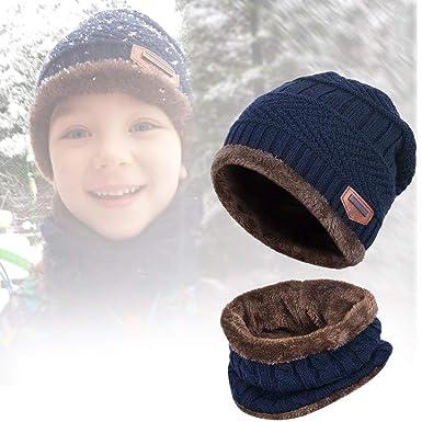 7355077f0bc2 UKLink - Ensemble bonnet, écharpe et gants - Garçon - Bleu - Taille Unique