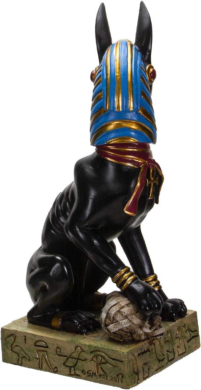 Figura decorativa de egipcio Anubis resina 13,97 cm largo
