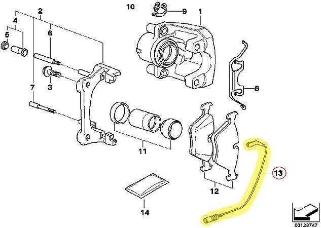 X AUTOHAUX 34357836969 Auto Vehicle Rear Brake Pad Wear Sensor for 2006-2009 BMW Z4