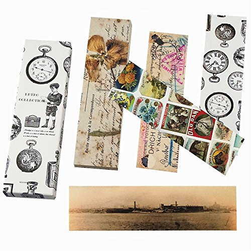 Shxstore Vintage Retro Reading Paper Bookmarks Personalized Old