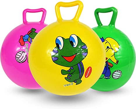 BESPORTBLE Hopper Ball Funny Inflatable Bouncy Ball Space Hopper Jumping Ball for Kids Toddlers Activities Green