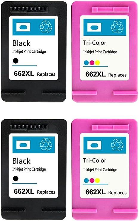 Amazon.com: ouguan COMPATIBLES de tinta para hp662 662 X L ...