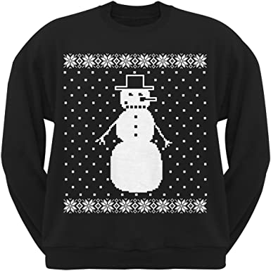 Snowman Christmas Black Sweatshirt