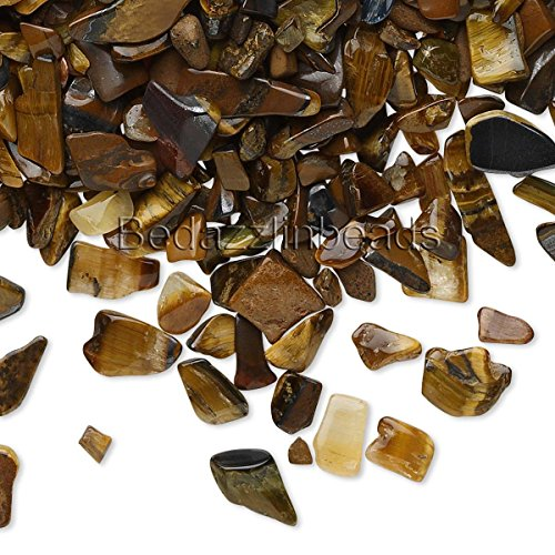 50 Grams Small Undrilled Gemstone Embellishment Chip Pieces (Tiger Eye)