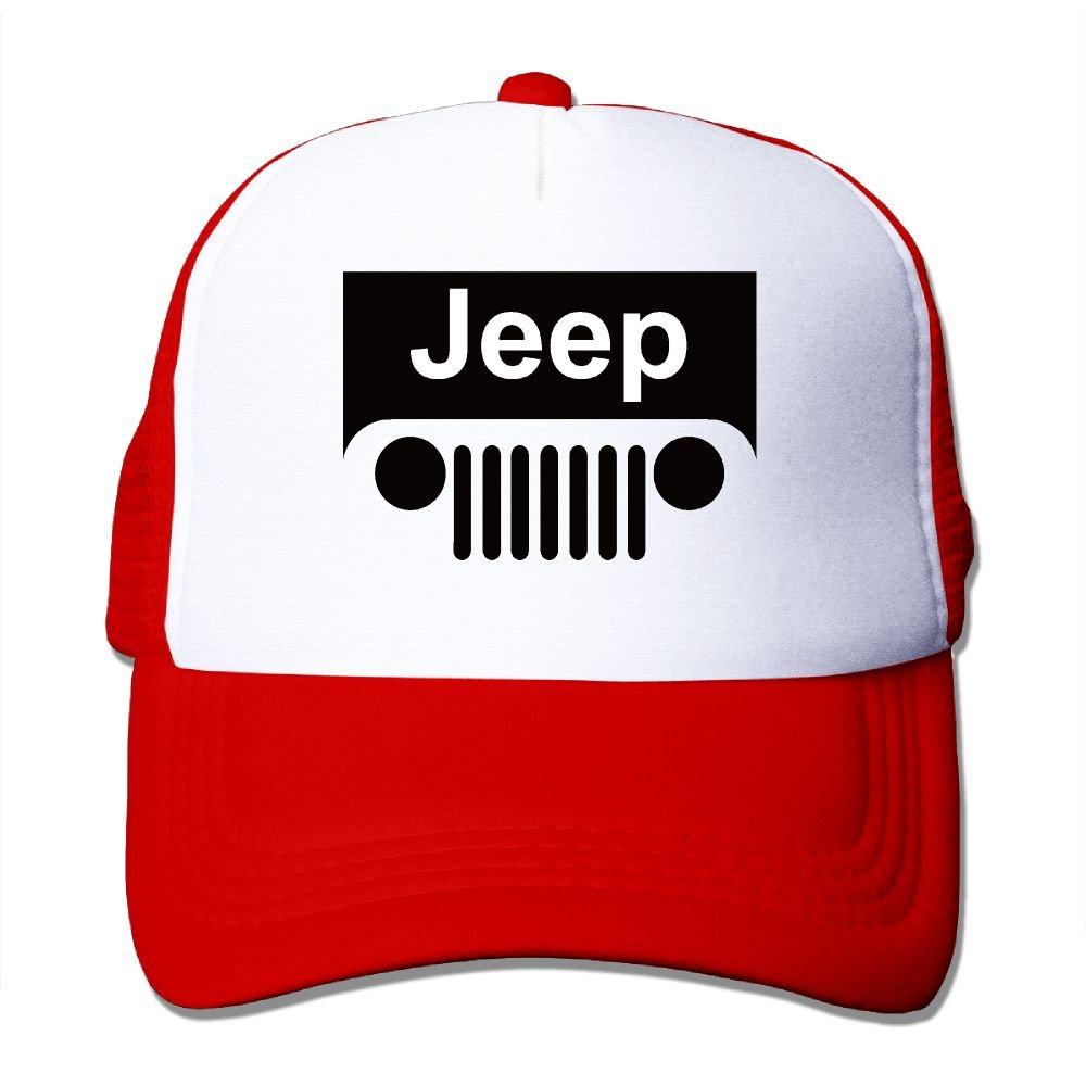 SHINENGST Jeep Grill Logo Mesh Trucker Caps/Hats Adjustable for Unisex Black