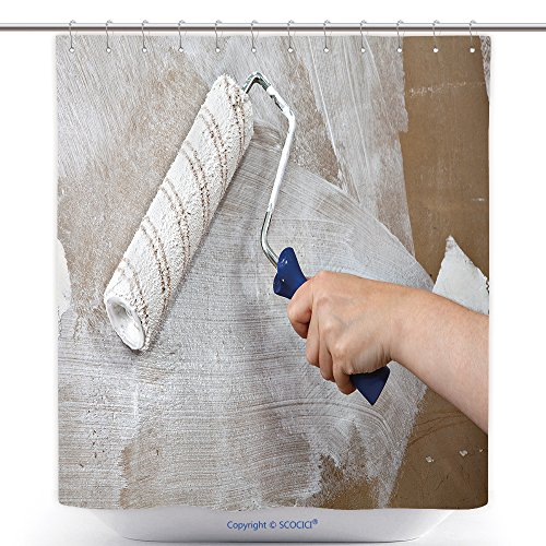 decorative-shower-curtains-painters-hand-holds-paint-roller-painting-wall-with-white-color-610048892