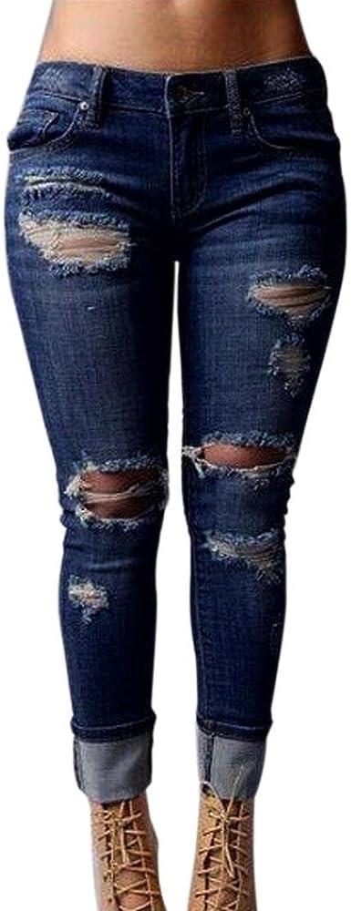 Alikeey 2018 Pantalones Vaqueros Flacos Con Aberturas En Los Pantalones De Cintura Alta Estirados Jeans Para Mujer Laterales Hombres Pantalone Transpirable Comodo De Haren Los Hippie Amazon Es Ropa Y Accesorios