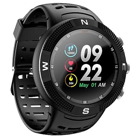 Amazon.com: F18 Round Smartwatch Sports Wristwatch Mens ...