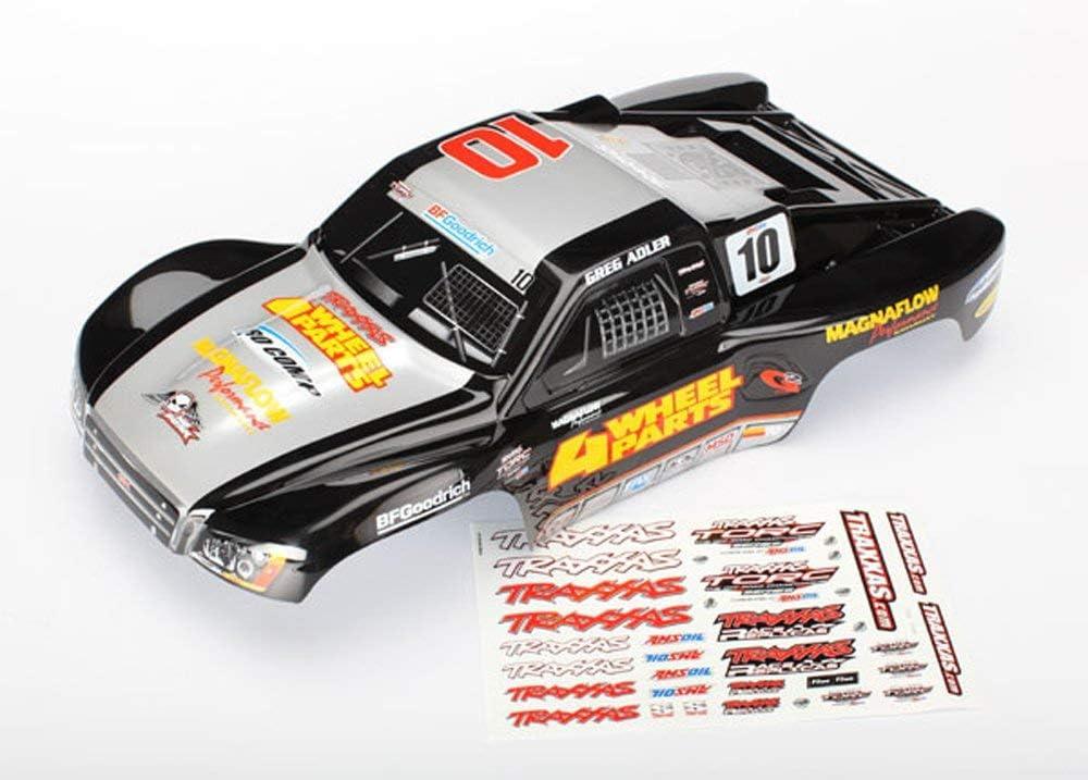 Traxxas 1/10 Slash 4x4 2WD Ultimate GREG ADLER SILVER & BLACK BODY 10 Clip
