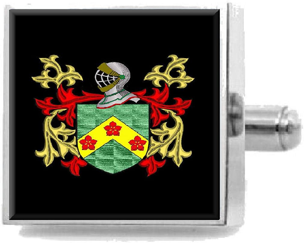Select Gifts Turley Ireland Heraldry Crest Sterling Silver Cufflinks Engraved Message Box