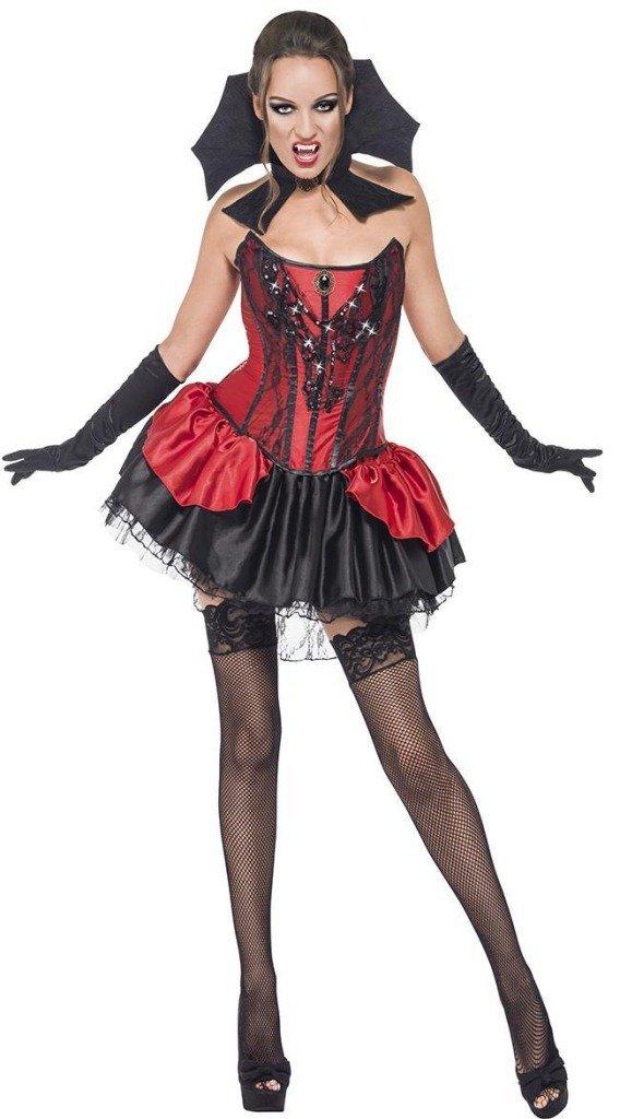 LLY Costume de Diable Rouge pour Halloween Cosplay Uniformes de Robe de soirée Tentation, Red