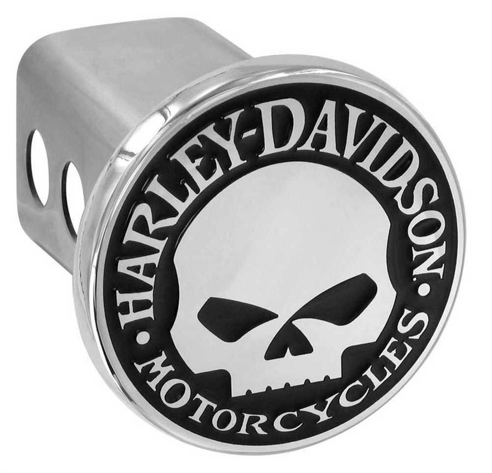 HARLEY-DAVIDSON Willie G. Skull Trailer Hitch Cover 2'' Stainless Steel HDHC240 by HARLEY-DAVIDSON