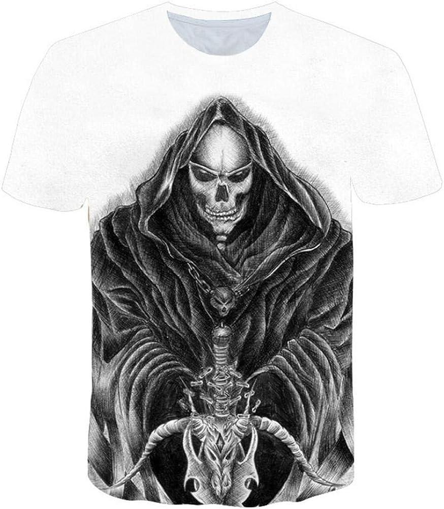 Camisetas Camiseta De Cráneo Verde para Hombre Camiseta Negra Divertida Punk Rock Estampado 3D Hip Hop para Hombre Ropa De Verano Streetwear @ 3XL_Ghost Head: Amazon.es: Ropa y accesorios