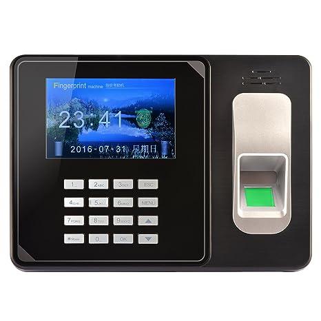 KKmoon Máquina de Asistencia de Contraseña de Huellas Digitales Inteligente Biométrica Registrador de Cheques del Empleado