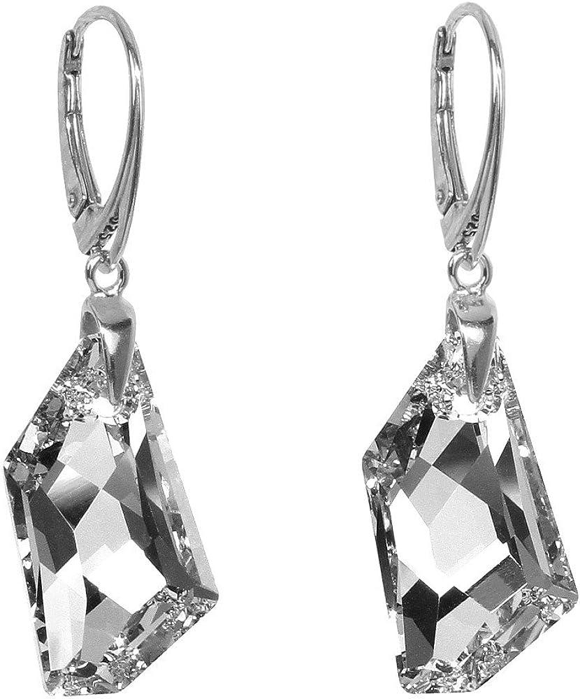 Pendientes de plata SILVEGO con cristales Swarovski® De-Art plata de ley 925