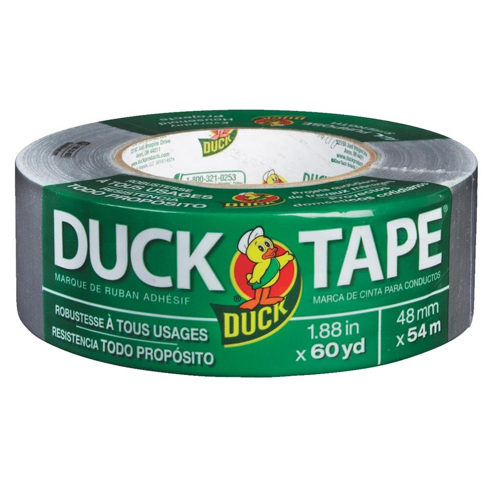 """Duck Tape 1.88/"""" x 60 YD Silver All Purpose Strength Duct Tape Single Roll,"""