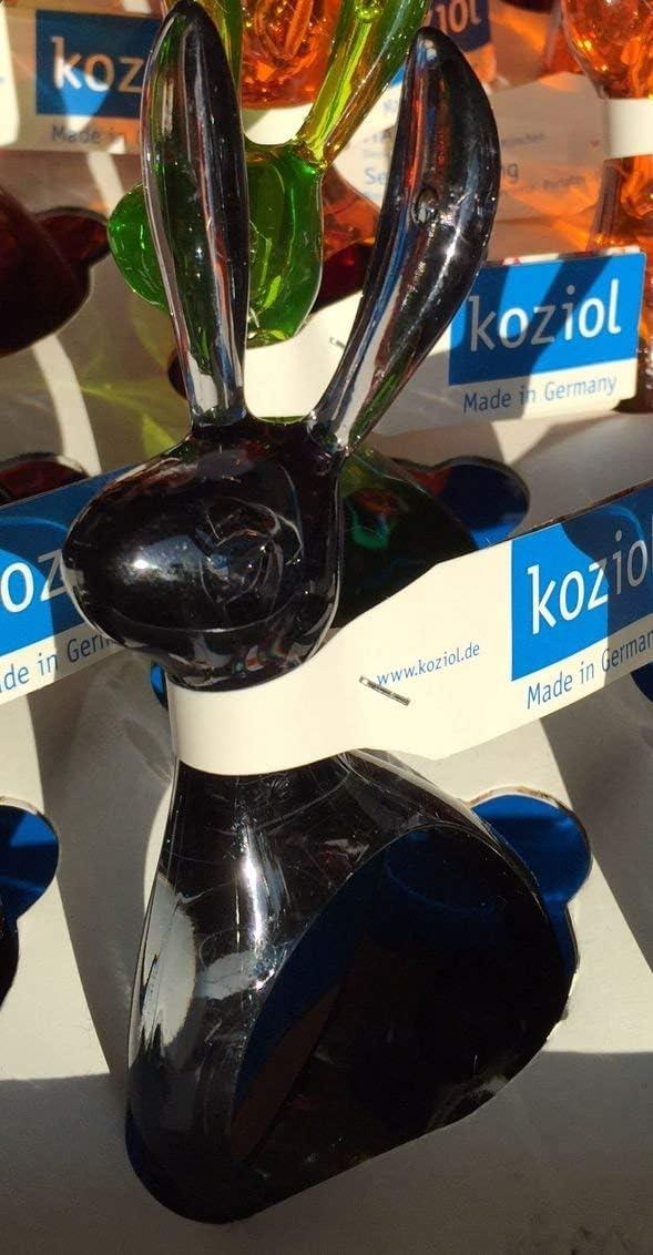 Rond de serviette d/écoration lapin Koziol 1/Anthracite Transparent