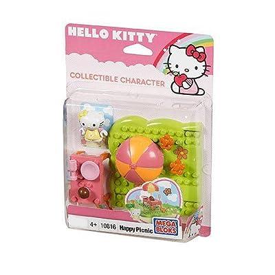 Mega Bloks Hello Kitty Happy Picnic assorted colors (15 pcs): Toys & Games