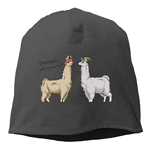 3c0ee3cdd59 Amazon.com  Cute Llamas with Hats Beanies Cap for Men Women  Clothing