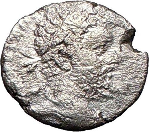 Septimius Severus Coins - SEPTIMIUS SEVERUS 199AD Ancient AR Roman Coin Zeus Zeus i26721