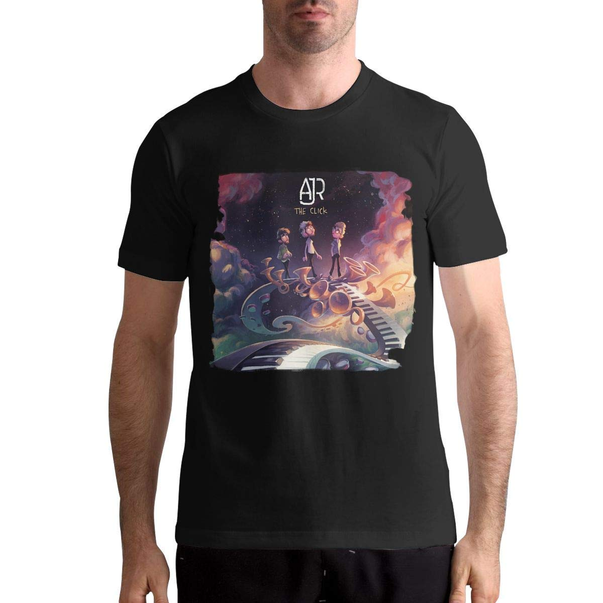 Ajrthe Click S Fashion Short Sleeve Music Band Tshirts Black