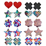 JESWELL Nipple Covers Disposable Pasties Breast Petals for Women Lingerie (Mermaid 10 Pairs)