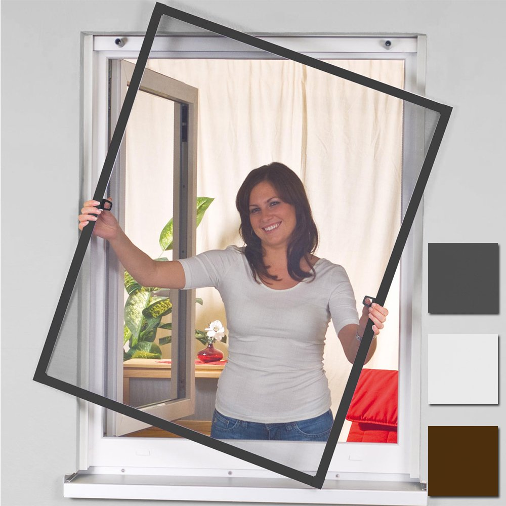 Mosquito insect fly net screen 100x120cm Flyscreen aluminum window frame kit easy life