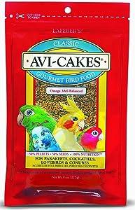Avi-Cakes Gourmet Bird Food- for Parakeets, Cockatiels, Lovebirds & Conures- 8 oz (4 p)
