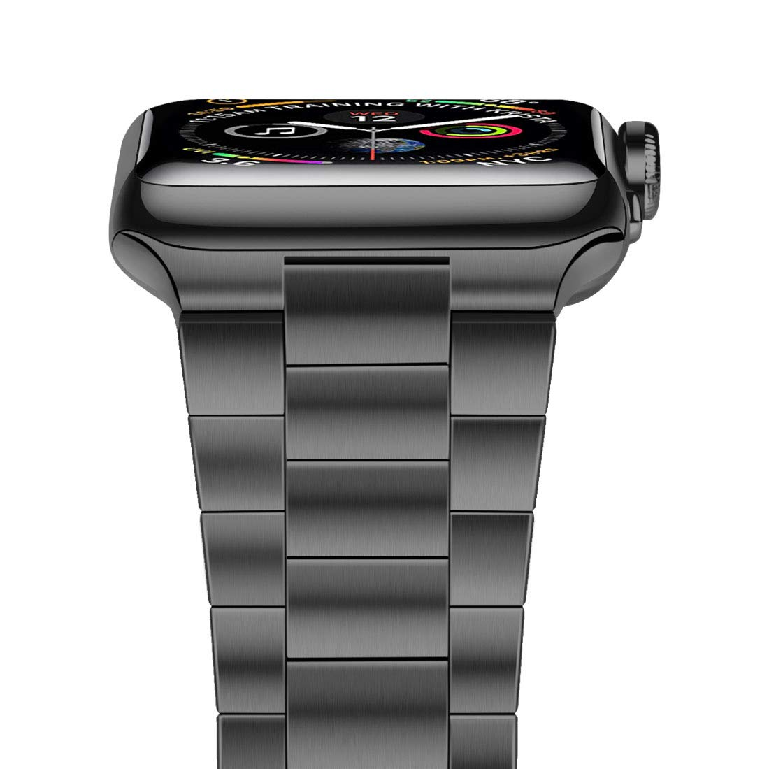 iiteeology Compatible with Apple Watch Band 42mm 44mm, Upgraded Version Solid Stainless Steel Band Business Replacement iWatch Strap for Apple Watch Series 4/3/2/1 - Space Gray
