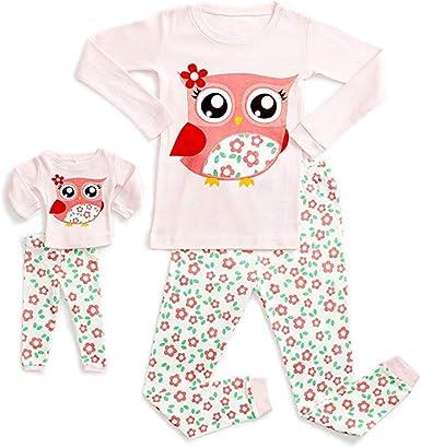Conjunto de Pijama de Dibujos Animados para muñecas y niñas ...