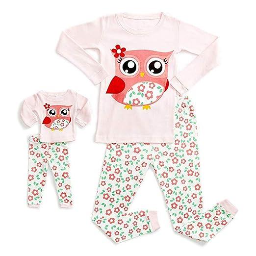 e7a78c0b7abe Amazon.com  Clothful 💓 Doll   Girls Pajamas Baby Cartoon Tops Pants ...