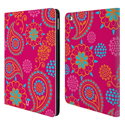 Head Case Designs Motley Mayhem Psychedelic Paisley Leather Book Wallet Case Cover Compatible for iPad Air 2 (2014)