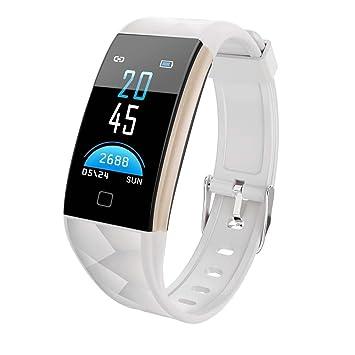 Longra*Longra Moda necesario movimiento T20 pantalla a color Bluetooth reloj inteligente monitor de ritmo cardíaco banda inteligente, todos compatibles ...